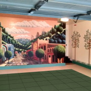 stenciled_garage_walls