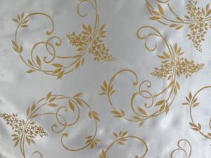 stenciled fabric