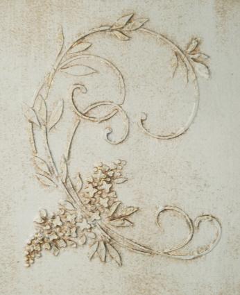 Plaster Stencil Lilac Fleur Walls Stencils Plaster Stencils