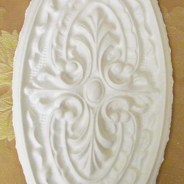 Plaster Mold Large Oval Medallion
