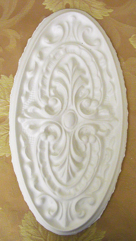 Plaster Mold Large Oval Medallion Walls Stencils