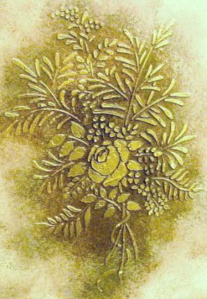 plaster stencil floral frieze