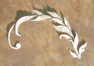Plaster Stencil Leaf Vine