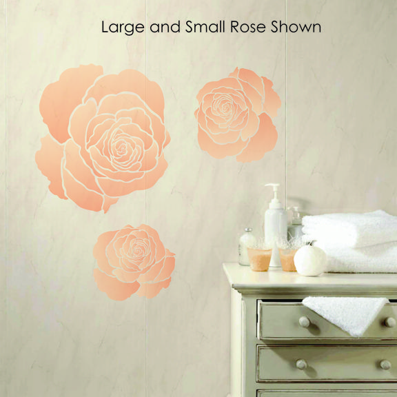 Large and Small Rose Stencil