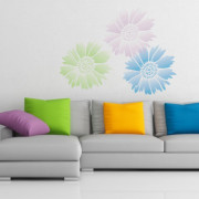 flower stencil_gaillardia_wall_7