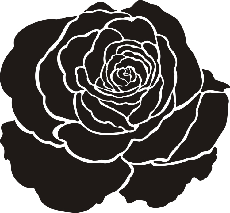 Painting Stencil Large Rose Flower Stencil – Walls ...
