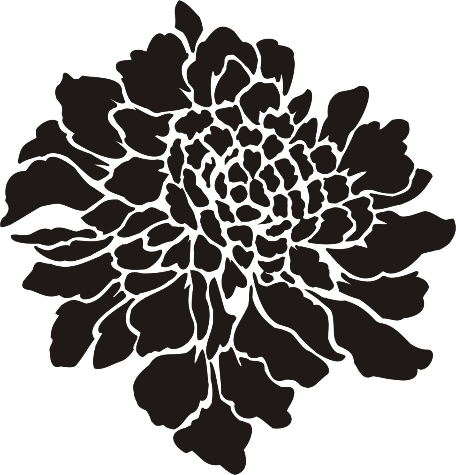 painting stencil large scabiosa flower  u2013 walls stencils  plaster stencils  painting stencils