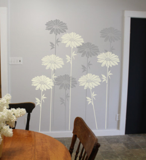 Painting Stencil Large Daisy Walls