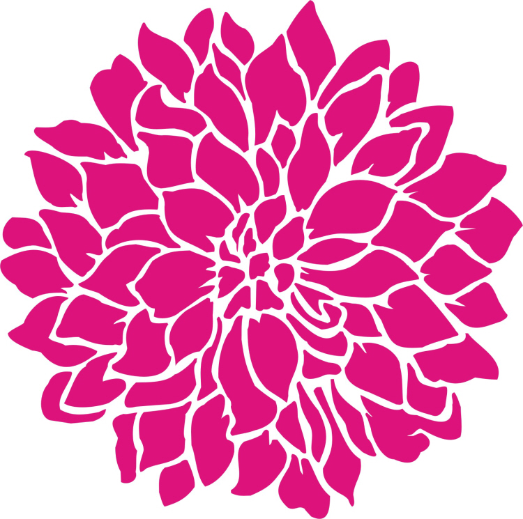 Painting Stencil Large Dahlia Flower Stencil Walls