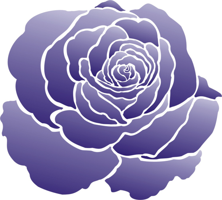 Painting Stencil Large Rose Flower Stencil - Walls Stencils, Plaster Stencils, Painting Stencils ...