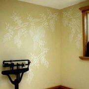 Plaster-Wisteria-Stencil-Wall