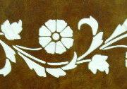 plaster stencil art deco border